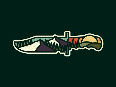 Knife outdoors photoshop vintage design art