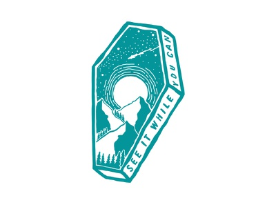 Coffin outdoors photoshop vintage design art