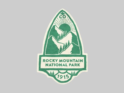 Rocky Mountain National Park mountains outdoors photoshop vintage design art