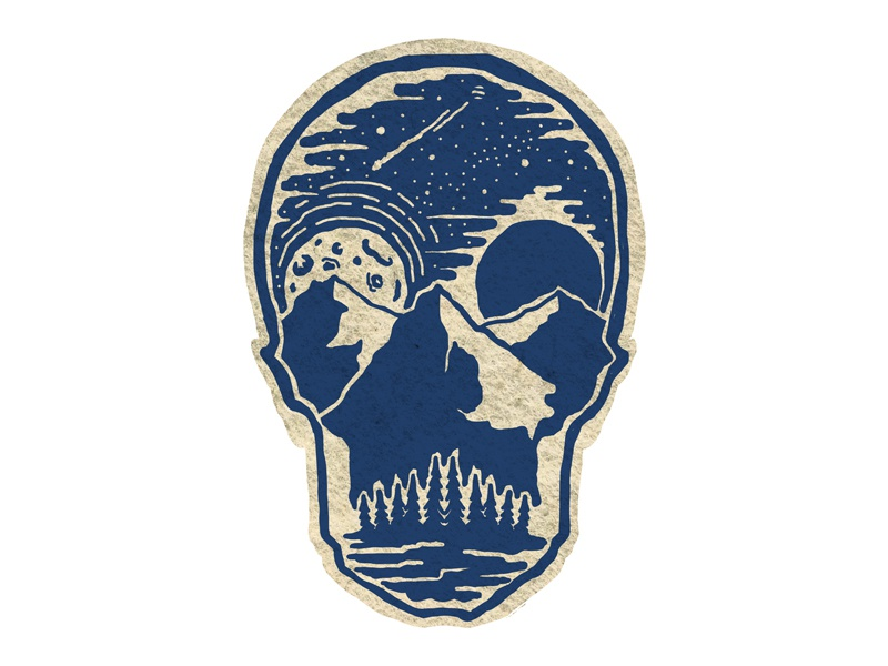 Skull Scape outdoors photoshop vintage design art