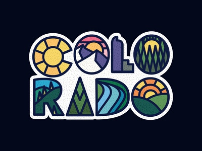 Colo - Rado colorado mountains outdoors photoshop vintage design art