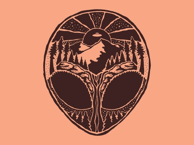 The Truth Is Out There nature illustration aliens design art