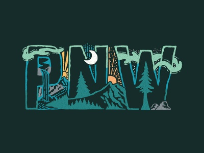 PNW texture nature design art