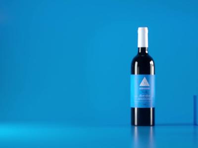 Wine Bottle cork bottle label bottle wine octanerender cinema4d c4d 3d branding clean motion design mograph animation animated gif