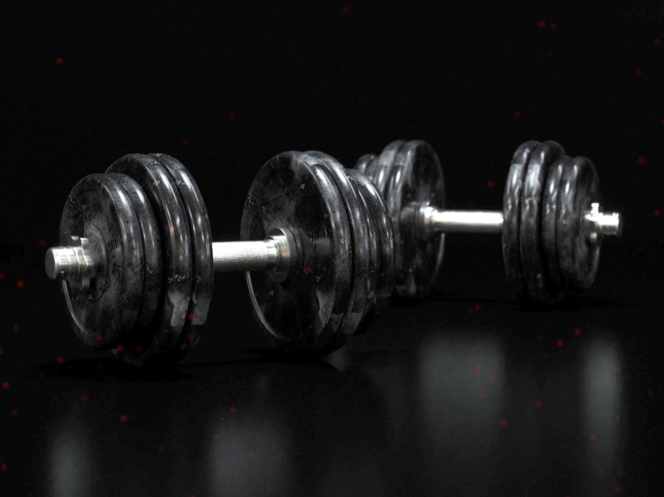 Dumbells design octanerender gym dumbell render 3d cinema4d