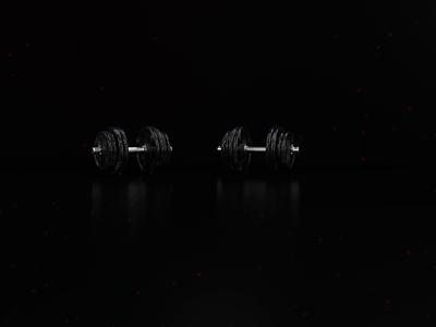 Iron Addict Logo Reveal octanerender cinema4d 3d 3d animation dumbell motion design mograph animated branding animation design