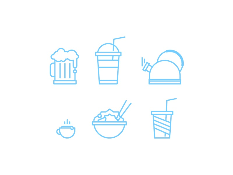 Free Icons  ai vector icons drik coffee kettle cola beer salad food free freebies