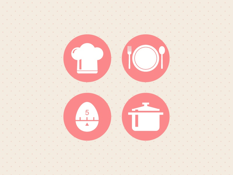 Cooking Icons icons free food cooking vector
