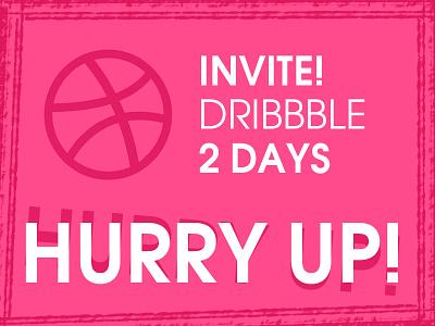 hurry up! invitation design