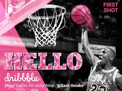 Hello Dribbbble!!! happy firstshot invite hello