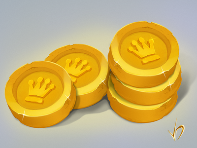 Coins for mobile games wacom games ui design practice app coins sketches