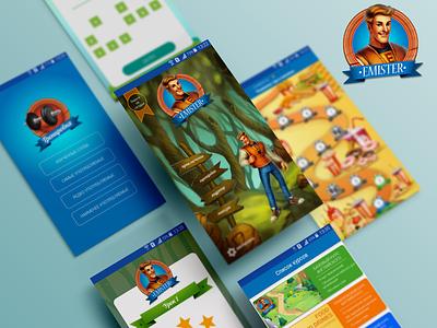 English with Emister APP english game design emister app ux ui