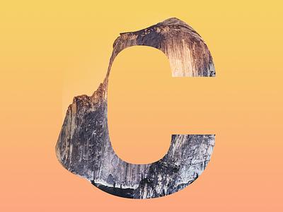 """The letter """"C"""" trend letter gradient rock design"""