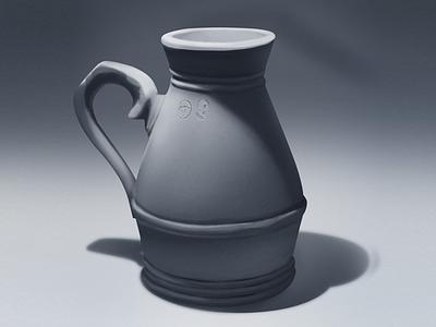 Vase 2D Wacom+PS sketch vase wacom photoshop design