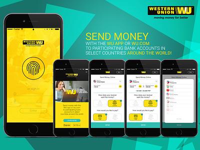 UI for WU mobile affinity design ux ui
