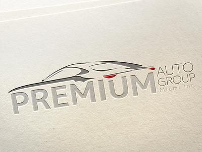 Logo Premium Auto Group of Miami Inc. design premium miami auto logo