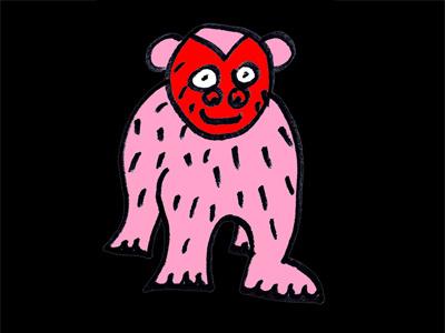 Monkey friend animal monkey love red face loving eyes