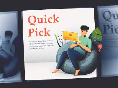 quick pick illustration delivery app order management ecommerce app illustration