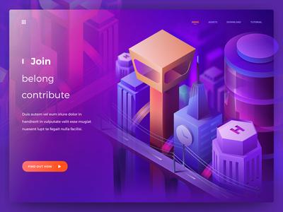 Build Isometric City uiuxdesign city web ui digital illustration isometric