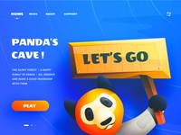 Panda's Cave - Gaming web header