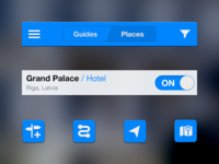 Travel app UI preview