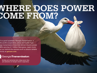 Stork ad for Georgia Transmission Corporation