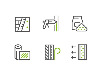 Insulation Icons insulation symbol color flat outline line icon