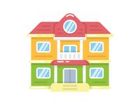 House flat illustration