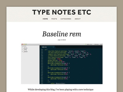 Type notes
