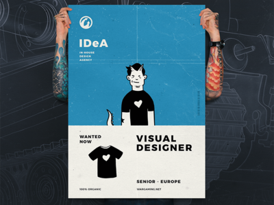 Visual designer wanted now