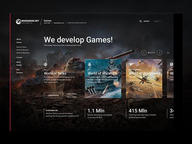 Wargaming.com tanks wargaming games icons design system web grid design ux ui webdesign portal