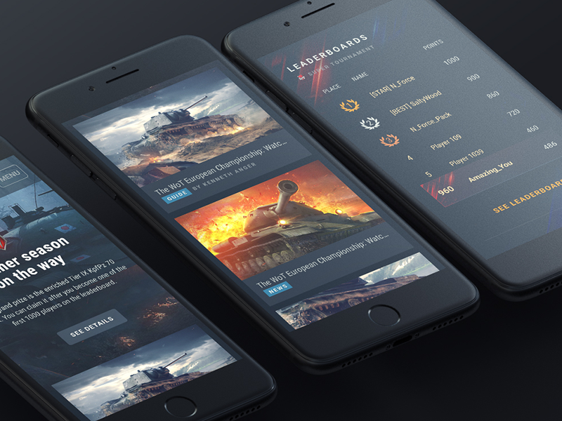WoT Blitz Portal wargaming design web experience ux ui mobile design system wot tanks portal