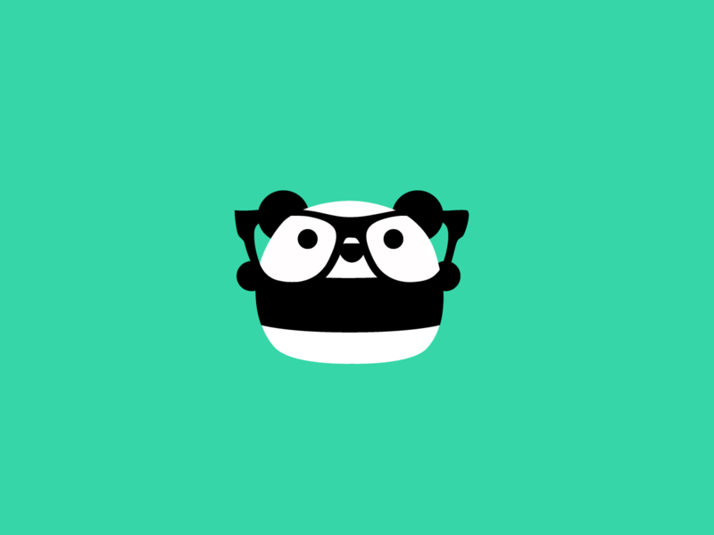 Pip the Panda panda stickermule