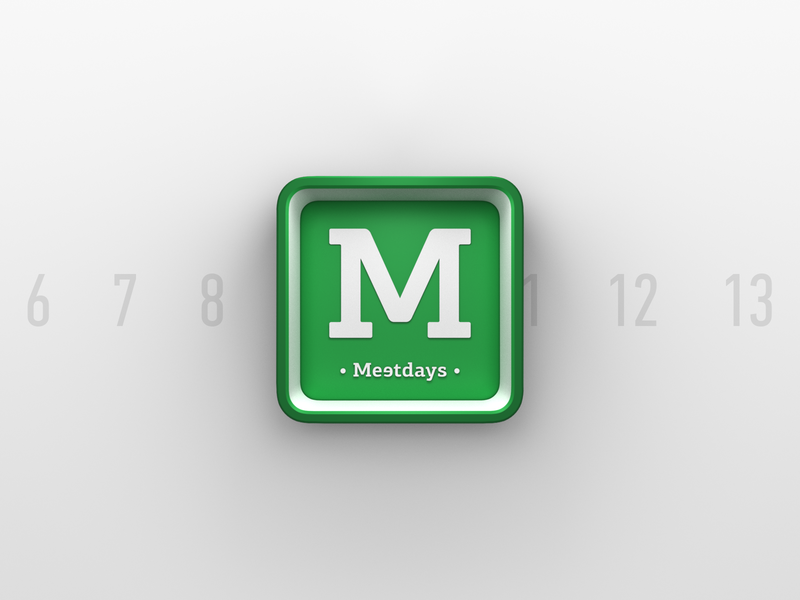 Meetdays Logo 3d logo branding brand