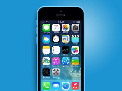 iPhone 5C psd mockup mockup iphone iphone5c 5c psd phone