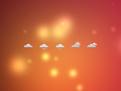 Weather Icons Dribbble weather icons ico cloud sun rain