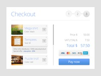 Simple shopping cart checkout