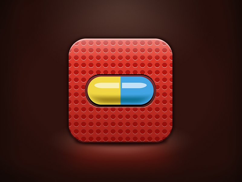 Antidoping App Icon app icon medical pill dots
