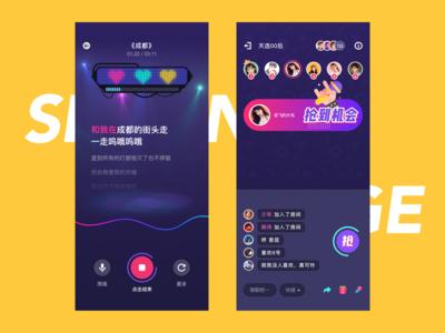 Sing page design