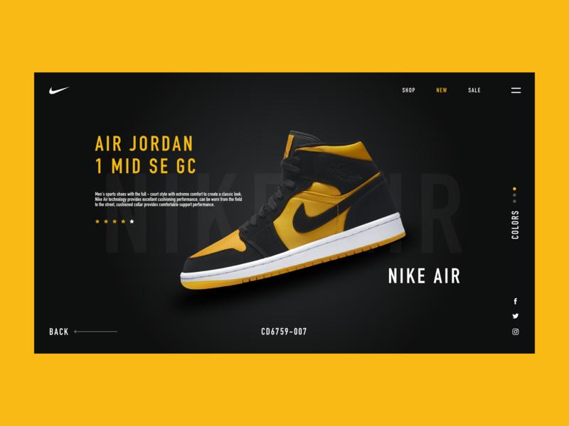 Nike Air shop ux app nike nice shopping nike air illustration 品牌 ui web design design 应用