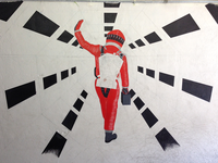 2001: A Space Odyssey Mural WIP