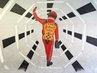 2001: A Space Odyssey Mural Progress