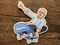 Bernie Shreds Sticker