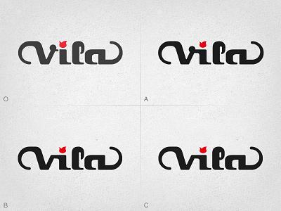Vila Guitars Logo - iteration logo guitar custom electric luthier solidbody inlay