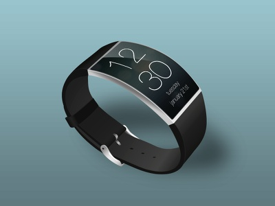 iWatch concept 2 apple iwatch oled curved illustration