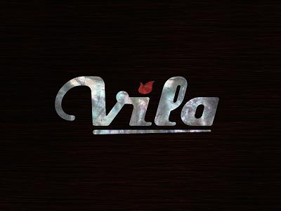 Vila Guitars Logo - Nacre logo vector guitar final custom electric luthier solidbody inlay headstock nacre mother of pearl