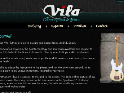 Vila Guitars - Website logo vector guitar custom electric luthier solidbody googie website