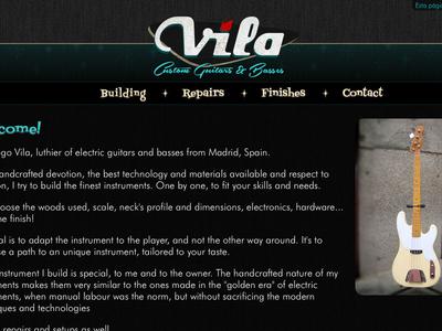 Vila Guitars - Website