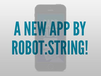cardFlips Teaser cardflips teaser robot string ios iphone icon app ios7