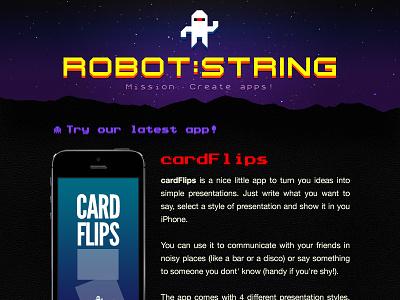 Robot:String Site logo web site responsive robot:string game apps studio photoshop